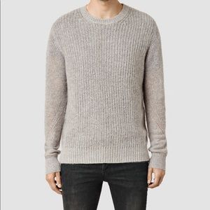 ALL SAINTS | grey montall crew sweater M